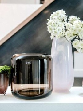 DutZ Vase Mazurka smoky brown