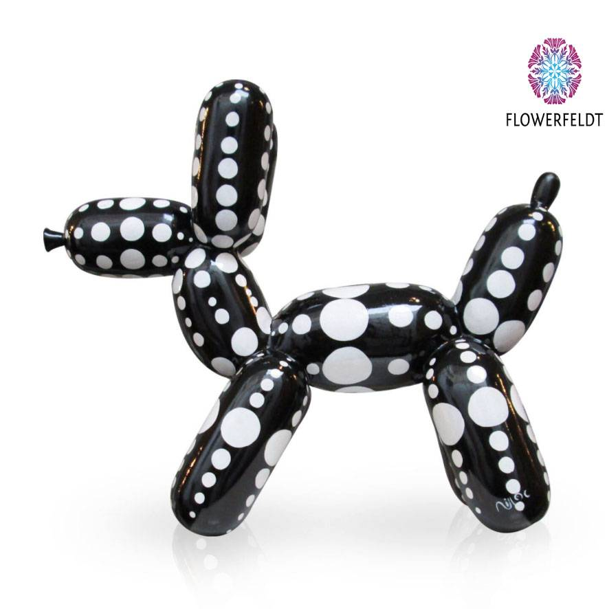 Niloc Pagen Balloon Dog Black White Dots