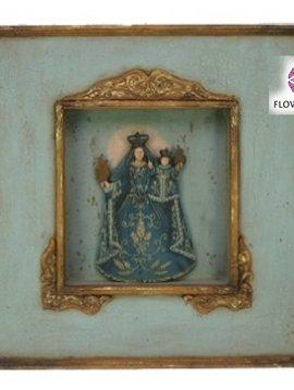 Madonna blue in frame