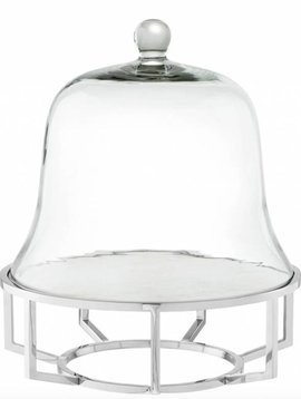 Eichholtz Silver cake stand branners
