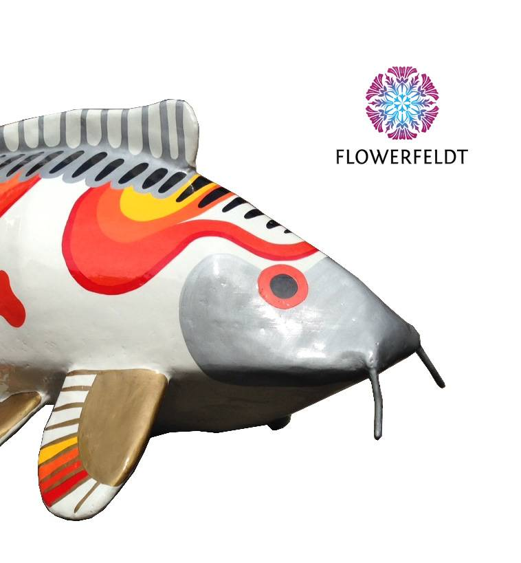 Art figure Happy Koi Fish