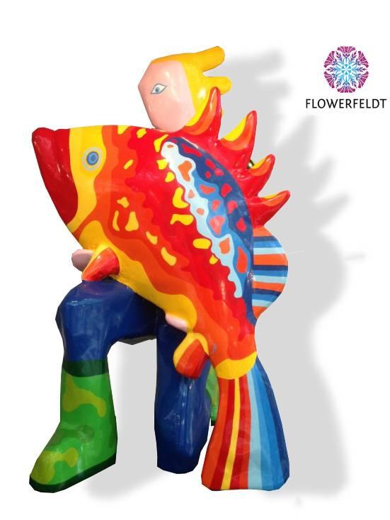 Art figure Fish and Man