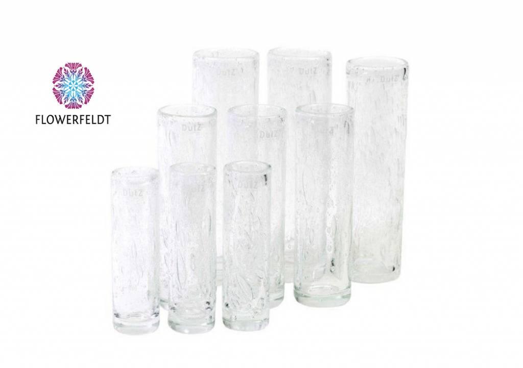 DutZ Cilinder vaas clear bubbles