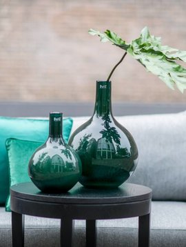 DutZ Vase bottle darkgreen bubbles