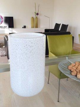DutZ Weiße Vase thick white bubbles
