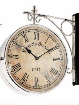 Eichholtz Station clock silver