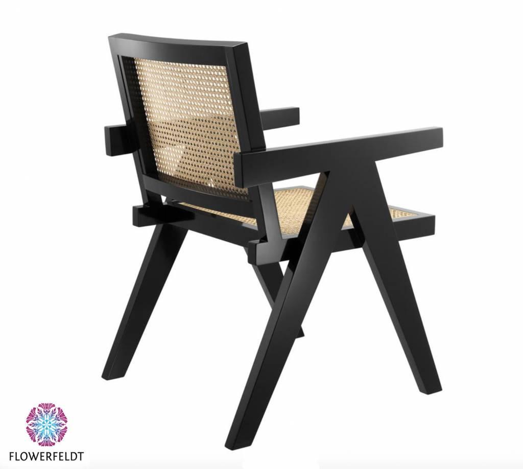 Eichholtz Rattan Dining Chair Adagio in black