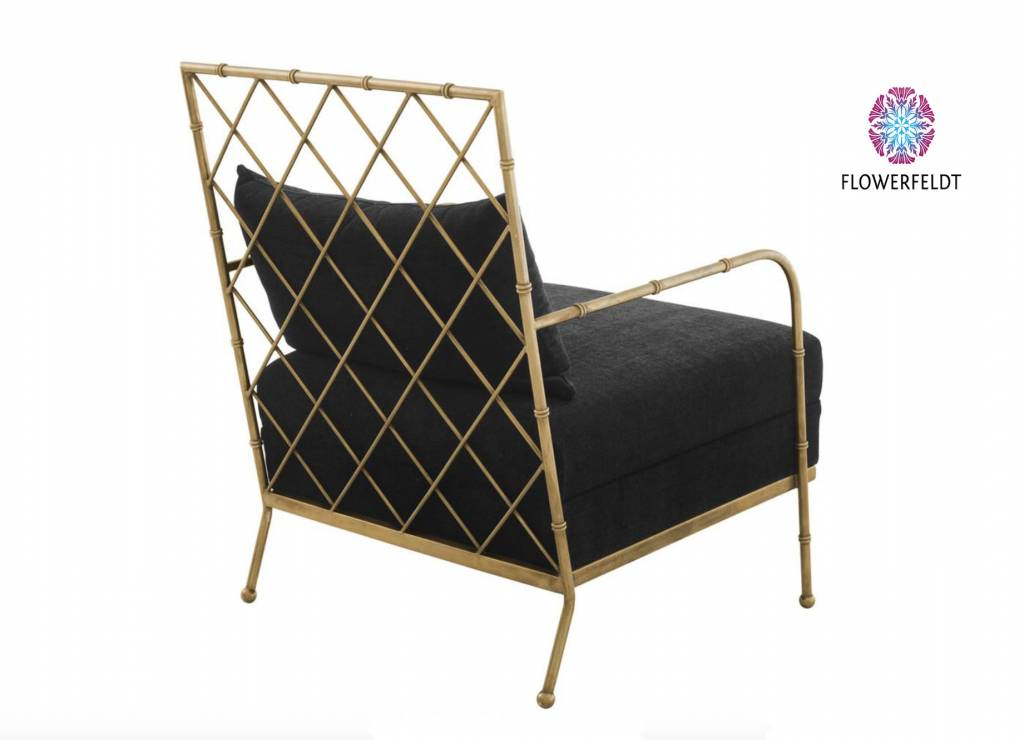 Eichholtz Relax Chair Bahamas of brass