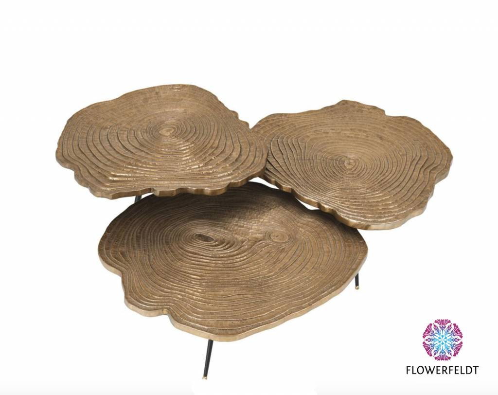 Eichholtz Tree trunk coffee table Quercus in gold