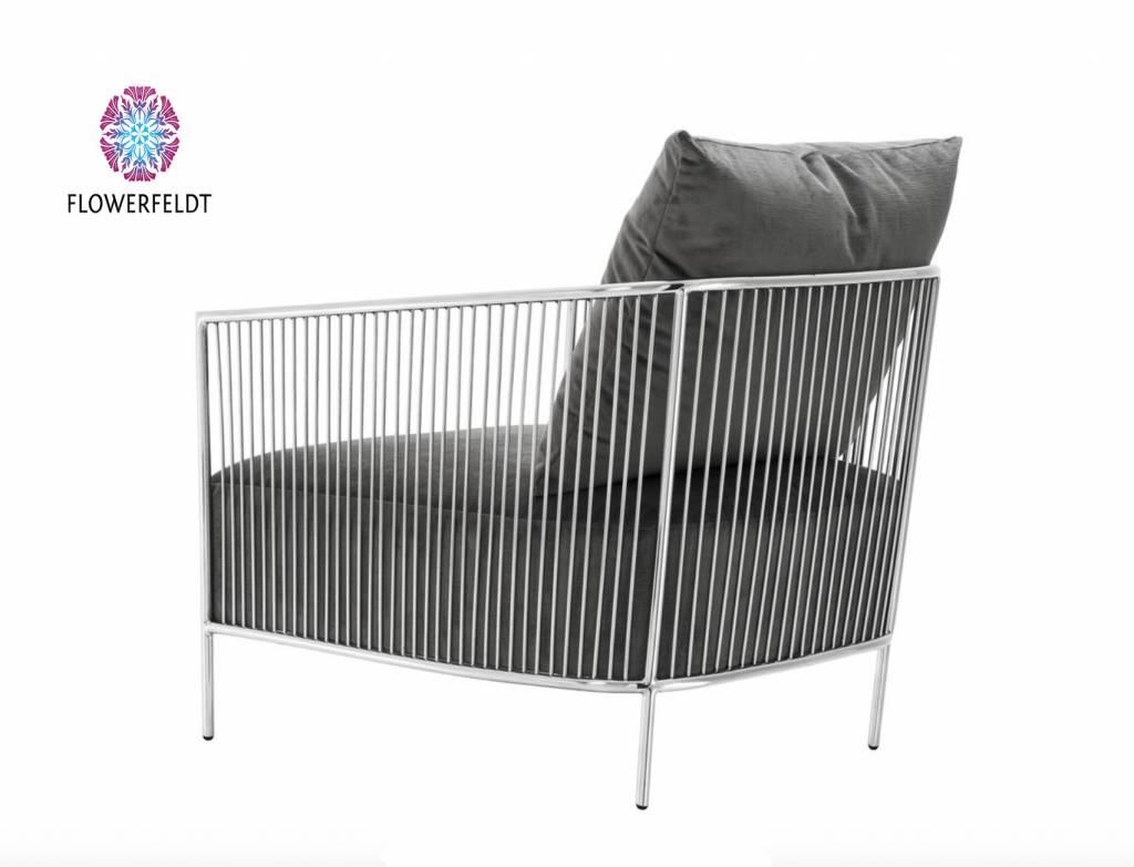 Eichholtz Design chair Knox in grey fabric
