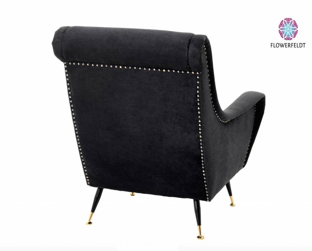 Eichholtz Black design chair Giardino