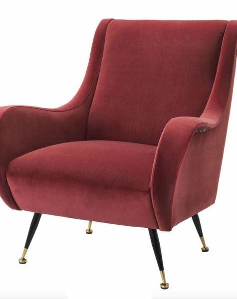 Rode Stoelen Fauteuils.Chair Giardino Red Rode Fauteuils Rode Fauteuil Van Eichholtz