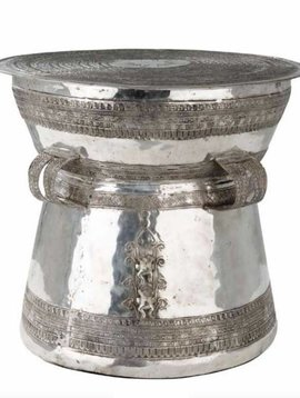 Eichholtz Side table Drum Thai Silver
