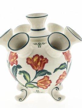 Tulip vase with orange tulips