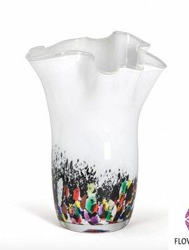 Fidrio Wave vase coral