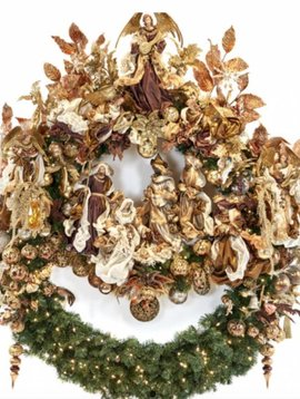 Goodwill Large Christmas wreath religious