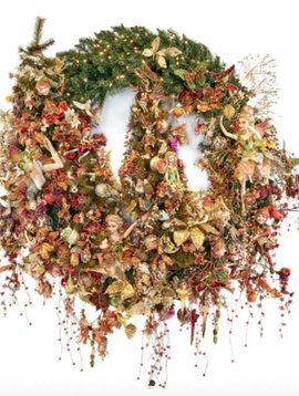 Goodwill Christmas wreath Autumn Fairies