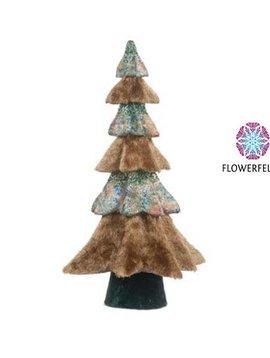 Goodwill Deko Weihnachtsbaum Furry Bark Blue