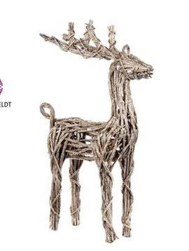 Goodwill Christmas reindeer rattan