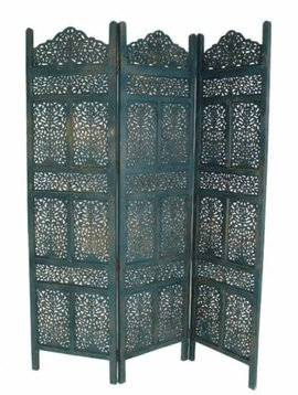 Wooden screen Marrakech blue