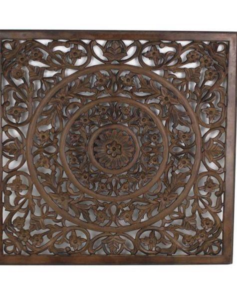Houten wandpaneel bruin - H100 cm