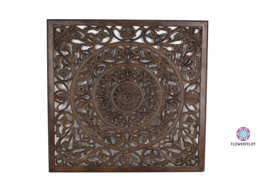 Wall plaque brown - H100 cm