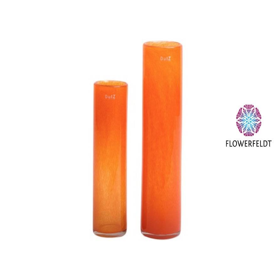 DutZ Cilinder vaas orange - H40 of H50 cm