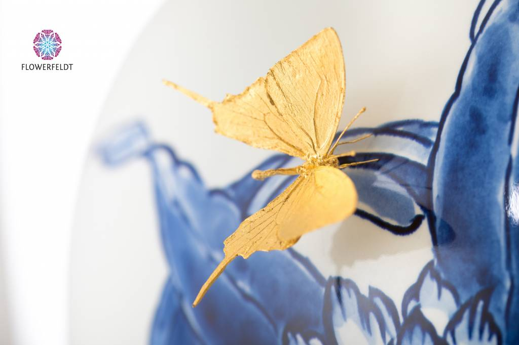 Design appel 24 karaat goud - D35 cm