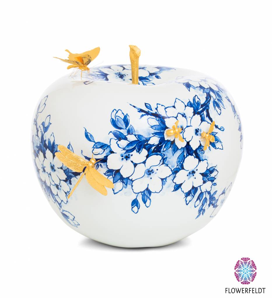 Design apple touch of gold 2 - D35 cm
