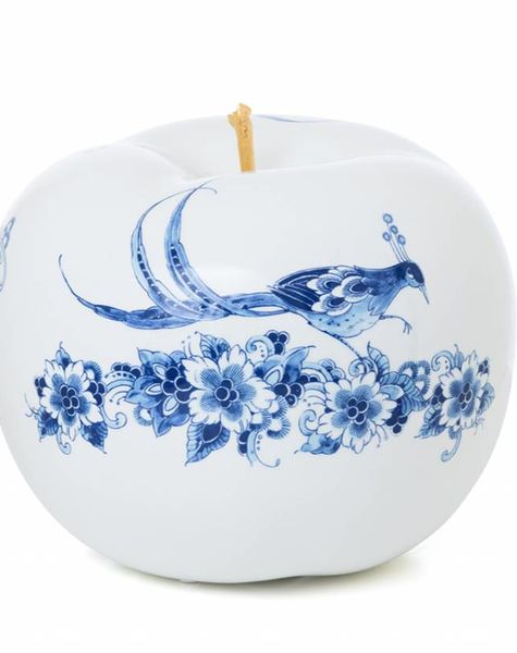 Ceramic apple touch of gold - D29 cm