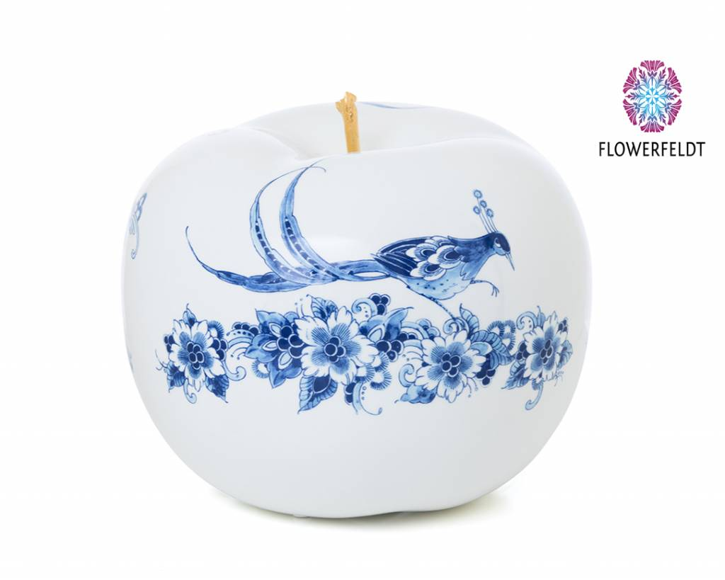 Ceramic apple touch of gold - D29 cm