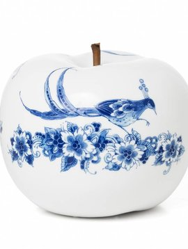 Apfel Skulptur Weiß