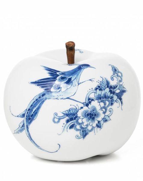 Decoration apple white - D20 cm