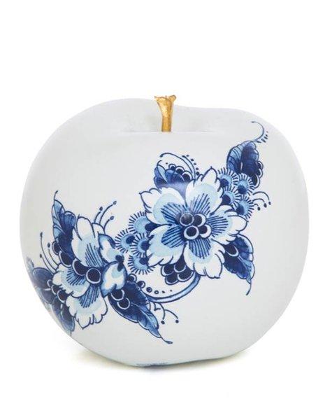 Porselein appel goud  - D12 cm