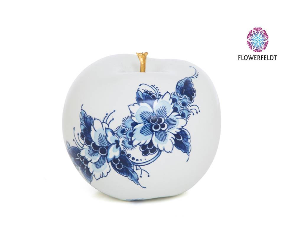 Porcelain apple gold - D12 cm