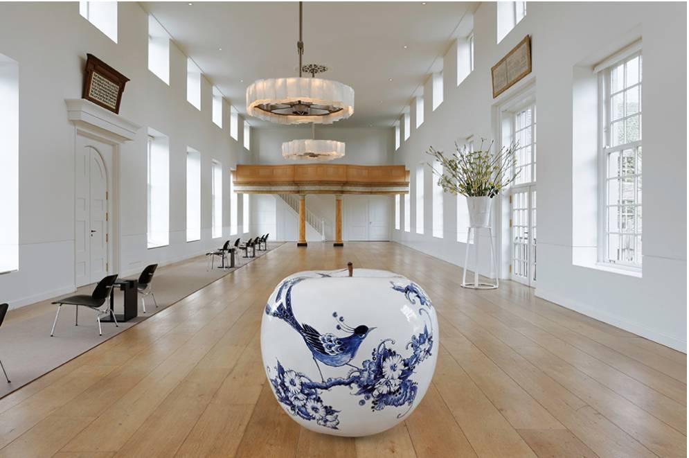 White apple porcelain - D12 cm