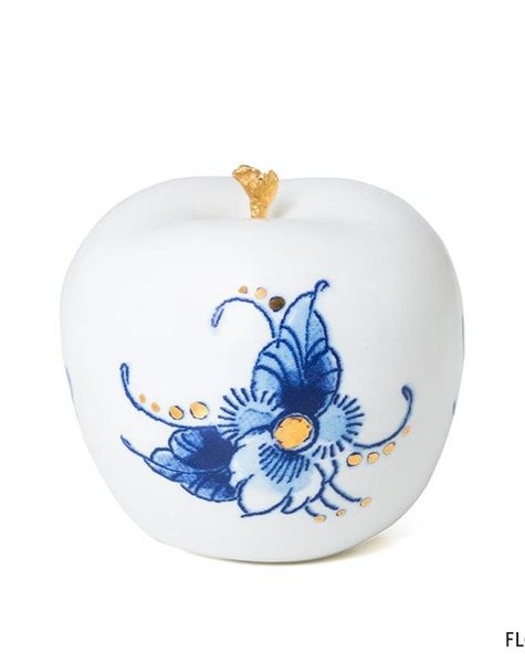 Gold apple decor - D6 cm
