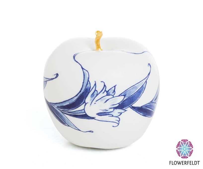 Gold apple ornament - D6 cm