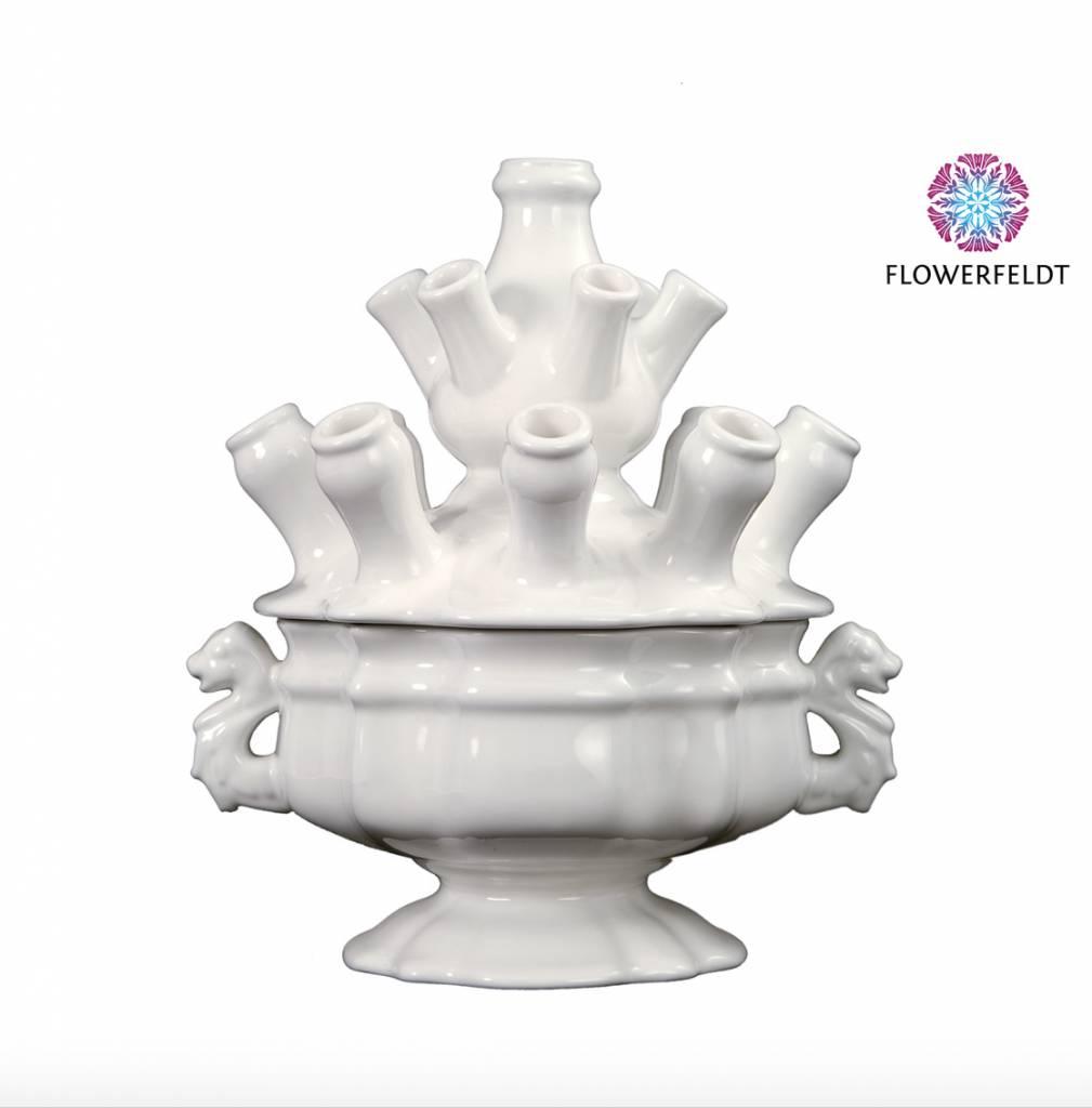 White tulip vase - H33 cm
