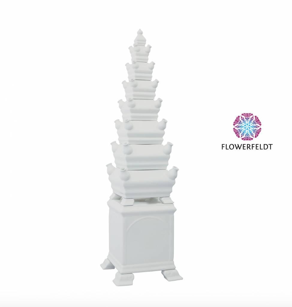 Pyramid vase white - H120 cm
