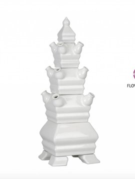 Pyramide Vase Weiß