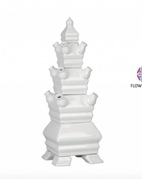 Tulpenvaas piramide - H48 cm
