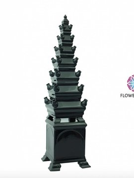 Schwarze Vase Pyramide