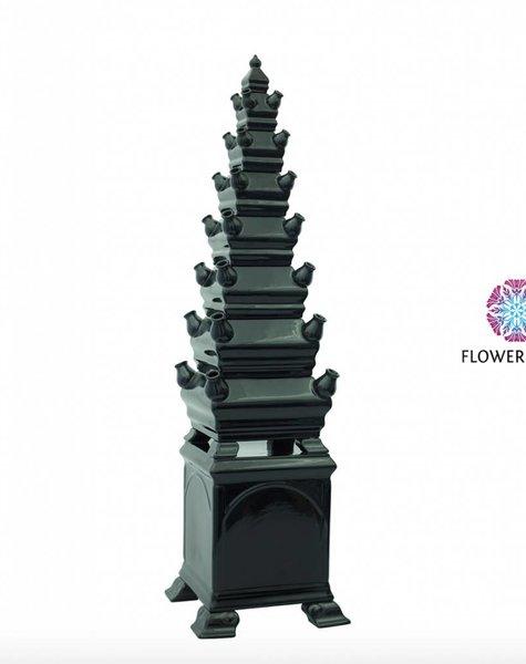 Tulpenvaas zwart - H120 cm