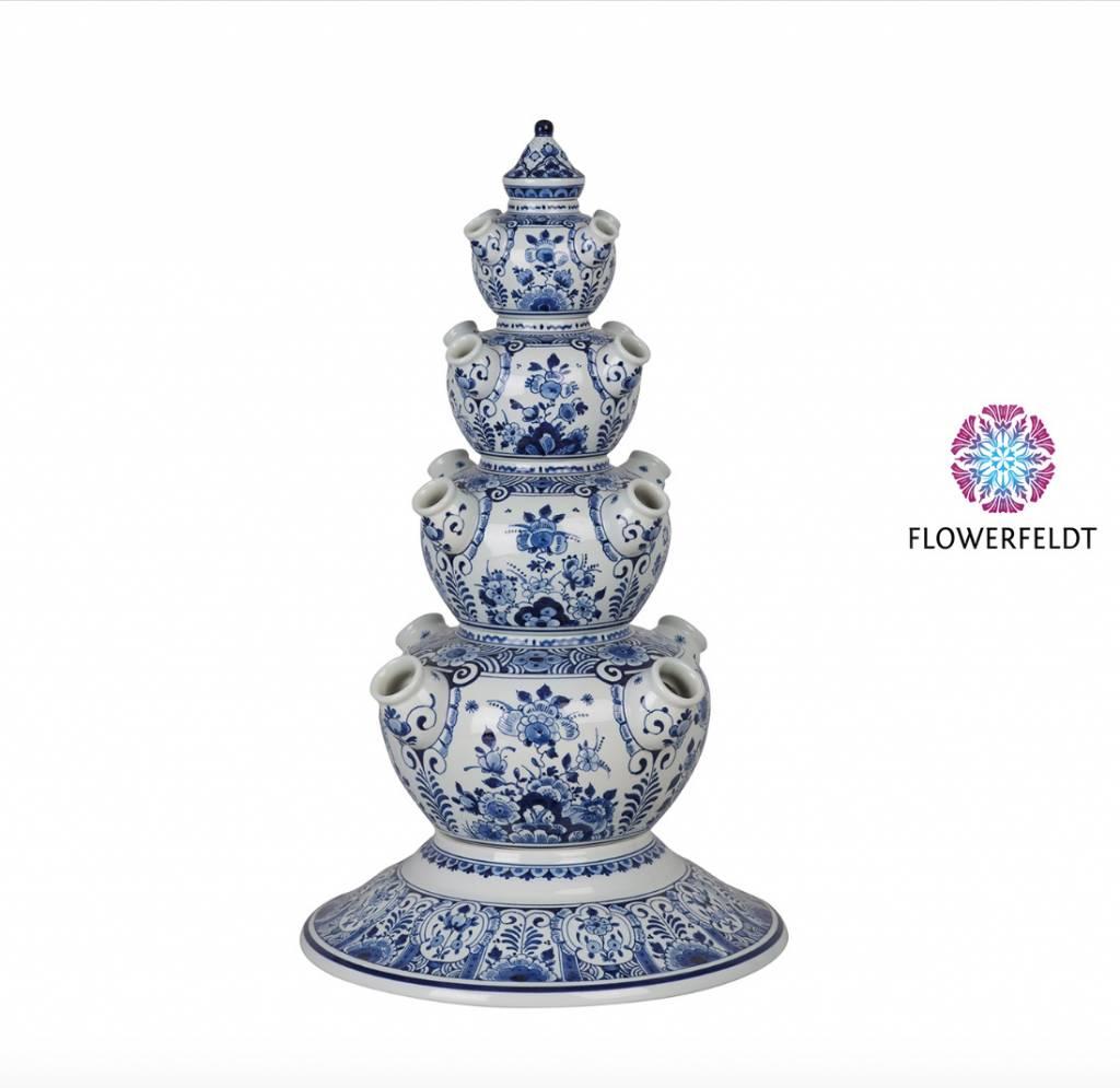 Pyramid vase round - H48 cm