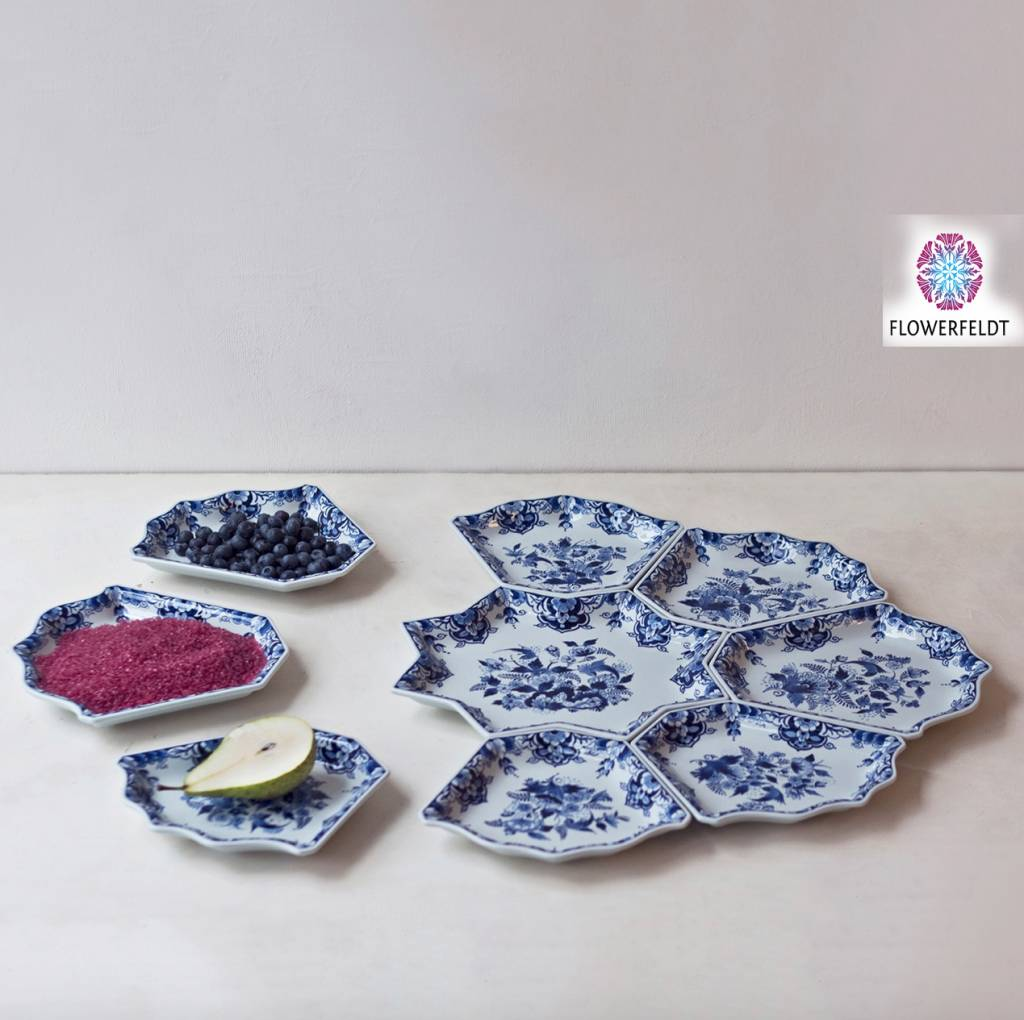 Schalen set delftsblauw - 69 x 55 cm
