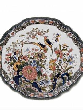 Wandteller Vögel und Blumen
