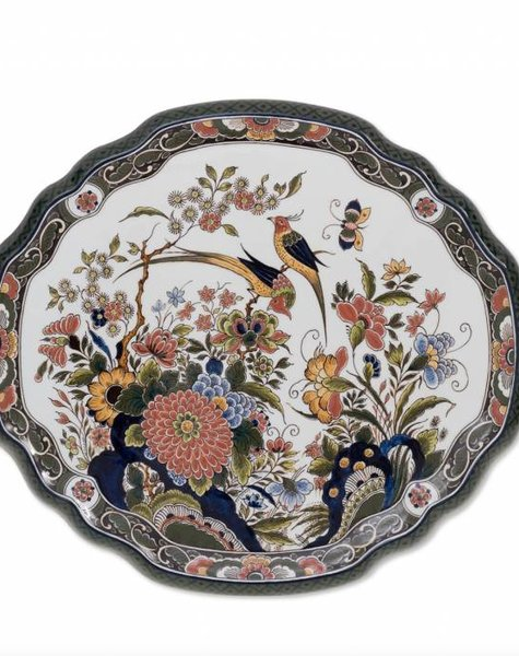 Wall plate flowers and birds - 40x36 cm