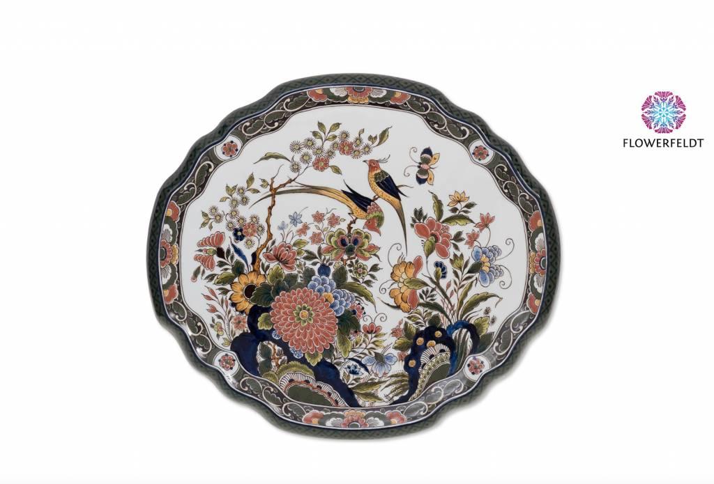 Wandbord vogels en bloemen - 40x36 cm