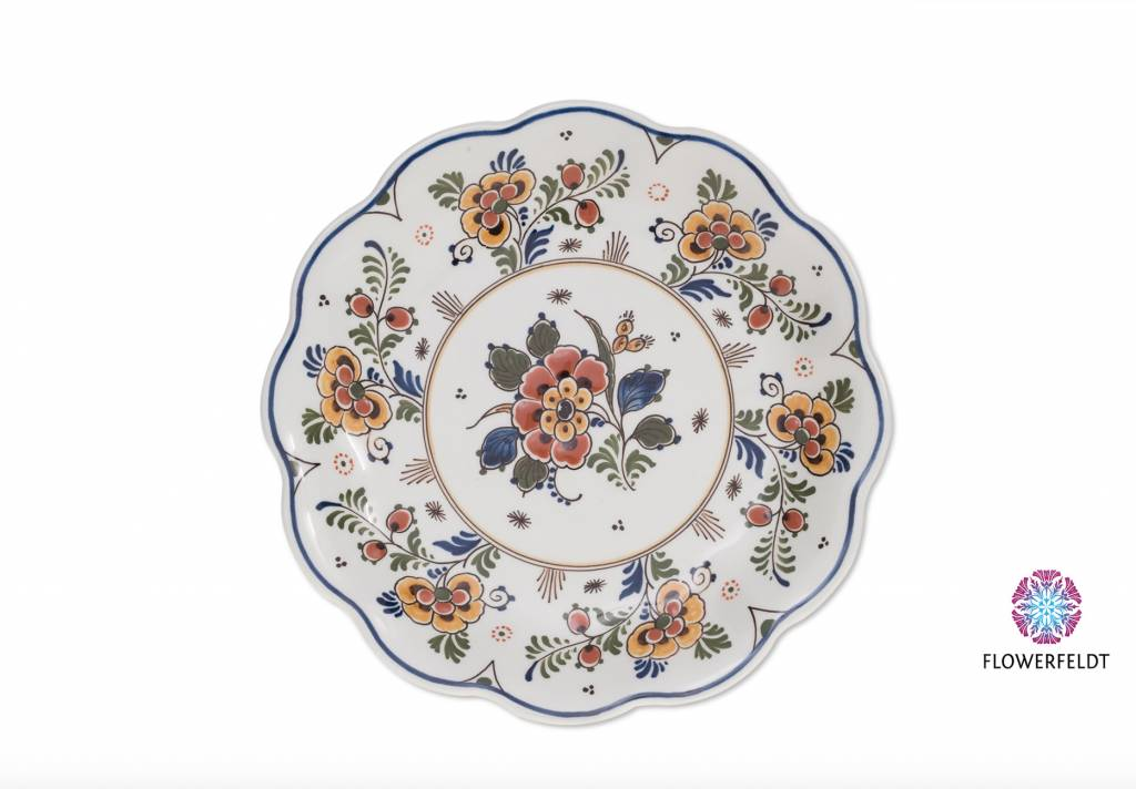 Wall plate Flowers - D 19,0 cm